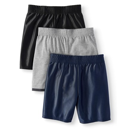 Dazzle & Jersey Hangdown Athletic Shorts, 3pc Multi-Pack (Toddler (Cotton Blend Boyshort)