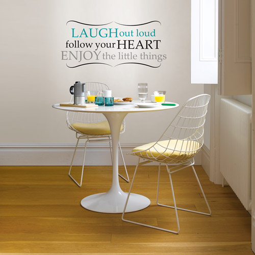 "Wall Pops ""Laugh Out Loud"" Wall Quote Decal"