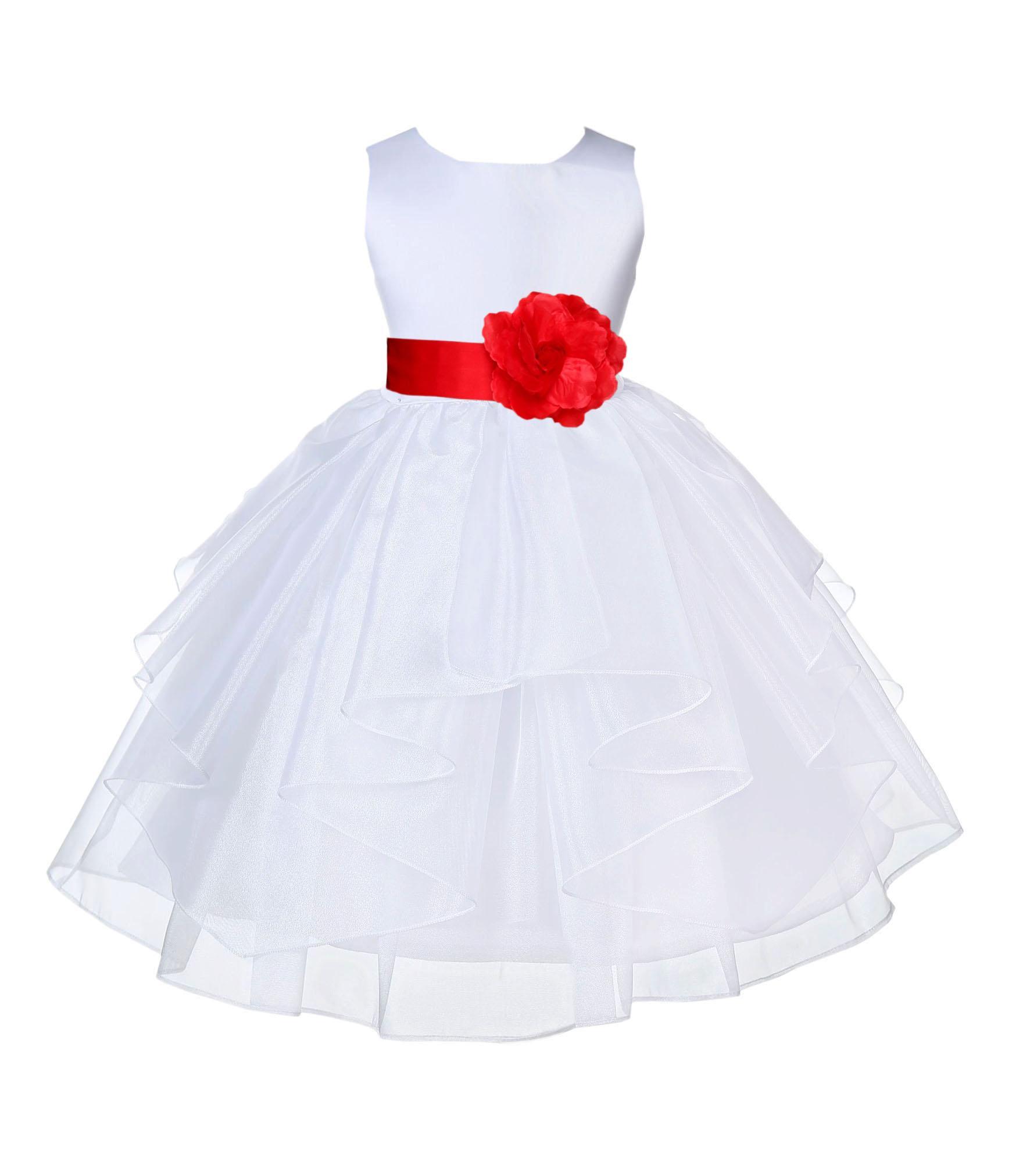 Red flower girl dress White lace infant dress Baby flower girl dress Baby wedding dress Red tutu dress Toddler dress Boho Chic Tulle dress