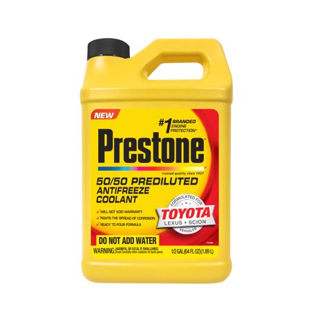 Prestone Prediluted Antifreeze/Coolant Formulated For Toyota/Lexus