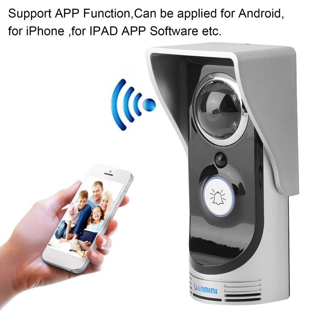 Smart Wireles s WiF i Remote Video IR Camera Doorbell Alarm System Motion Sensor for Home Security
