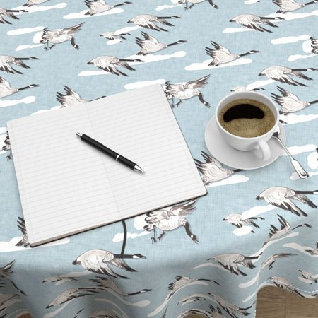 Best Round Tablecloth Flying South Custom Baby Bird Goose Duck Canadian Cotton Sateen deal