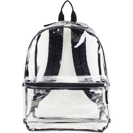 Eastsport Clear Backpack With Front Pocket And Adjustable