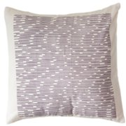 Sustainable Threads Wysteria Channels Cotton Throw Pillow