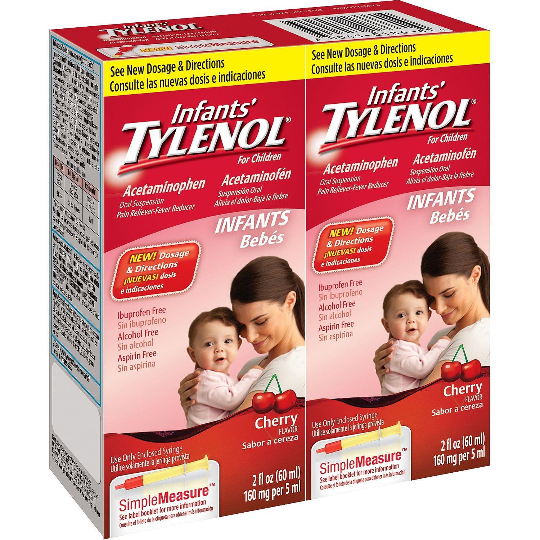 Infants' Tylenol, Cherry, 2 Fl Oz Bottles, 2 Ct