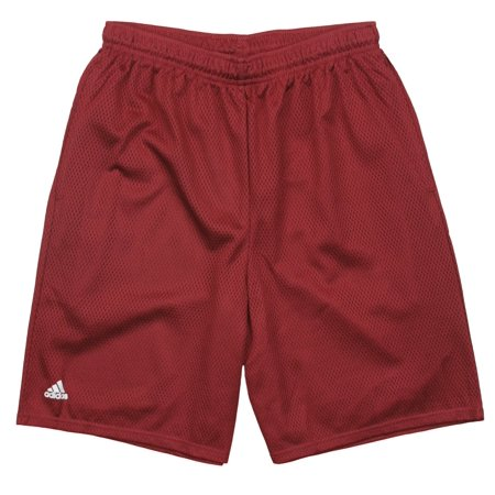 Adidas Men's Mesh Basketball Shorts - Wine Red
