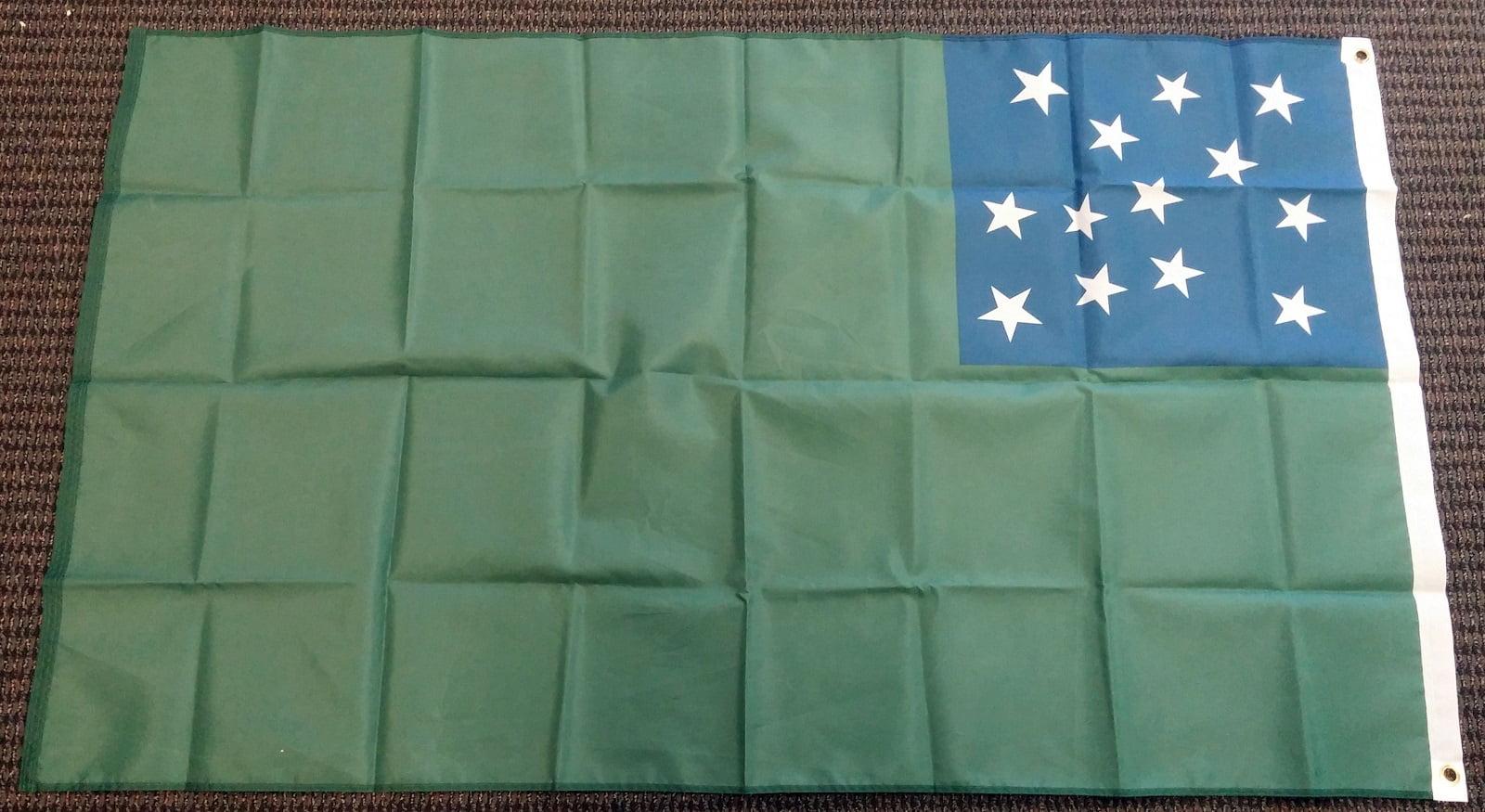 5/' Wood Flag Pole Kit Wall Mount Bracket 3x5 Antiques Red White Blue Poly Flag