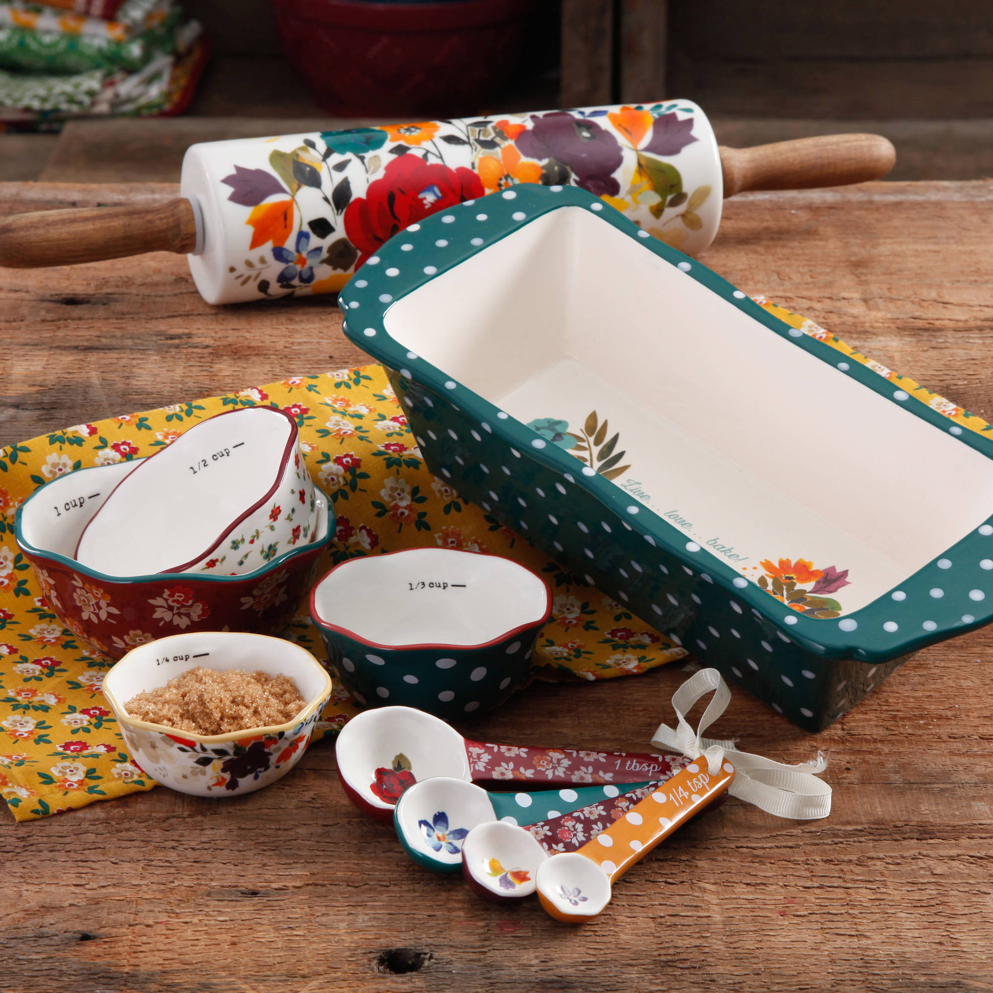 The Pioneer Woman Harvest Bakeware Set, 10-Piece