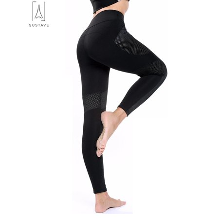 2b23400d60ad GustaveDesign - GustaveDesign Women Yoga Pants Ladies Fitness Leggings  Running Gym Exercise High Waist Sports Trousers