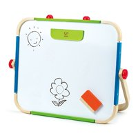 Hape Anywhere Tabletop Chalkboard & Magnetic Whiteboard Art Studio Artist Easel