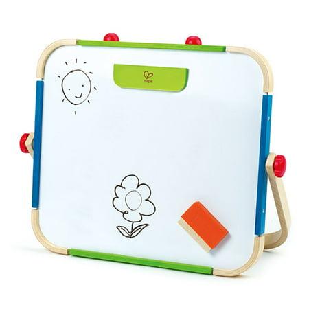 Hape Anywhere Tabletop Chalkboard & Magnetic Whiteboard Art Studio Artist Easel (Kids Easle)
