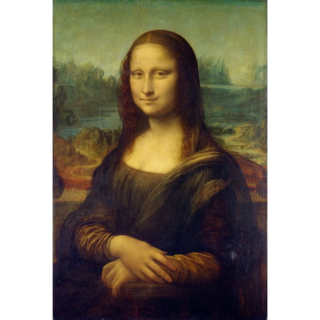 - Canvas Print La Gioconda Oil Painting Leonardo Da Vinci Mona Lisa Stretched Canvas 32 x 24
