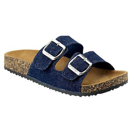 9d5186a7aadb SNJ - Women s Casual Buckle Straps Sandals Flip Flop Platform Footbed  Sandals - Walmart.com