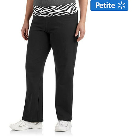 d122ea81fcab0e Danskin Now - Women's Plus-Size Petite Yoga Pant with Printed Waistband -  Walmart.com