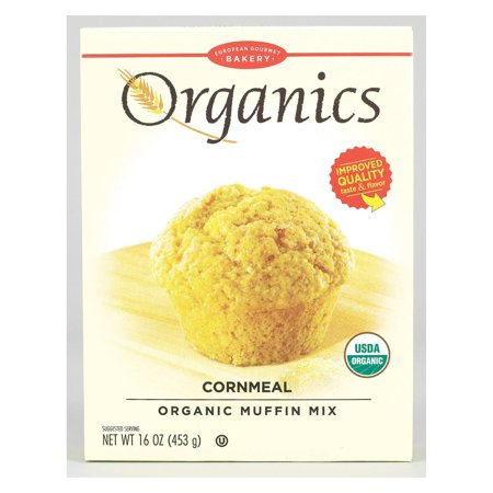 - European Gourmet Bakery Organic Cornmeal Muffin Mix - Cornmeal - pack of 12 - 16 Oz.