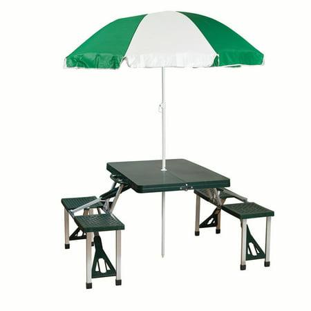 Stansport Camp Picnic Table And Umbrella Combo Pack Walmart Com