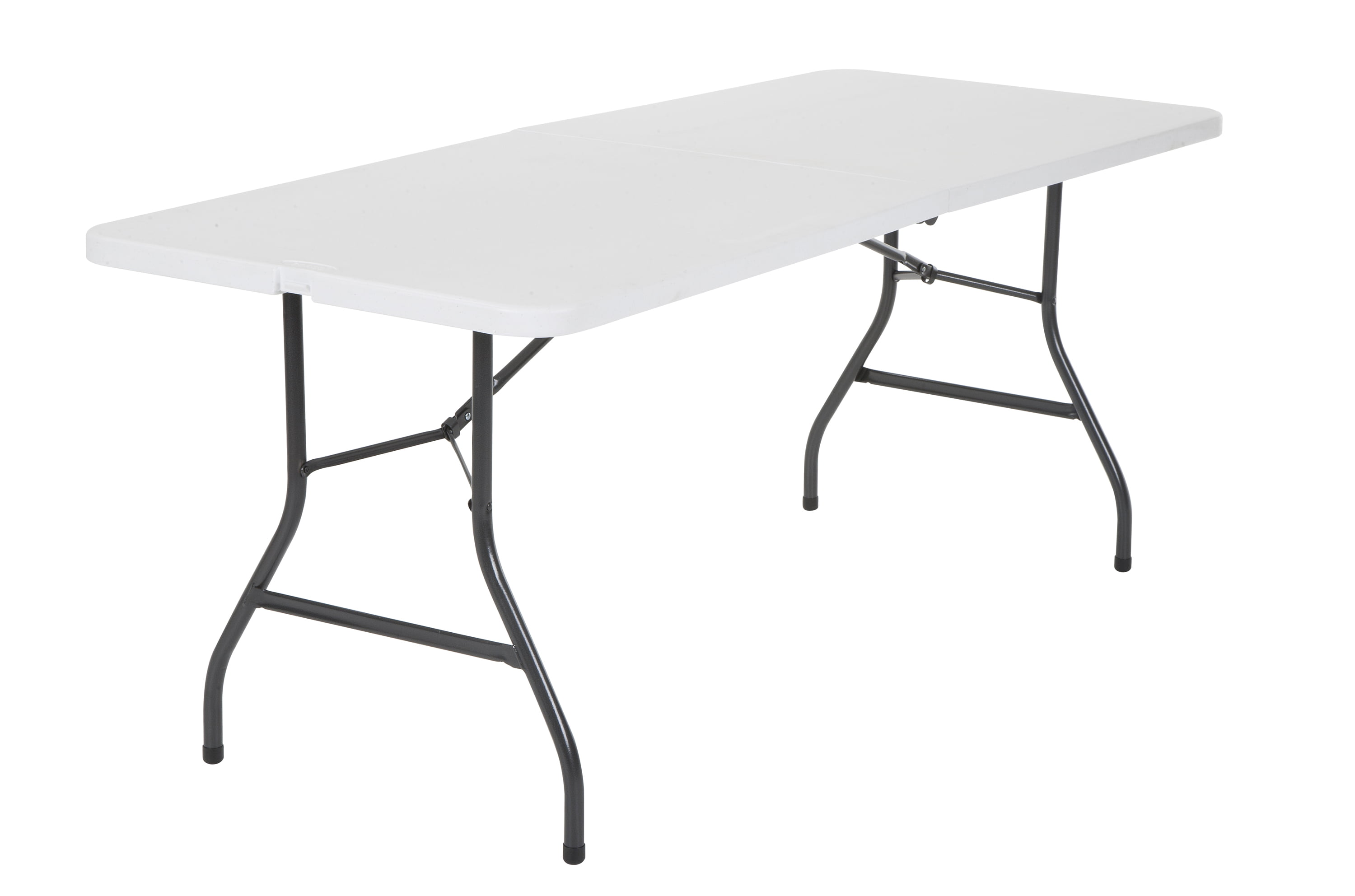 - Office Centerfold Folding Table White 6 Foot Portable Plastic Home