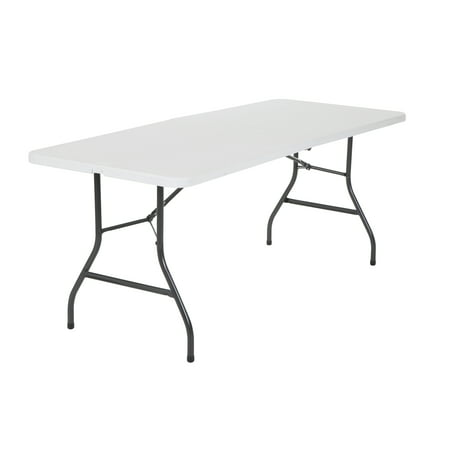 Cosco 6 Foot Centerfold Folding Table, White