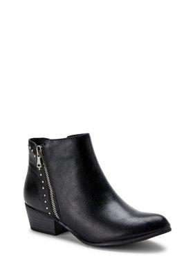 Portland Boot Company Side Zip Micro Stud Faux Leather Bootie (Women's)