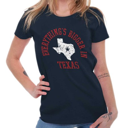 Brisco Brands Everythings Bigger In Texas TX Adult Short Sleeve (Everything's Bigger In Texas)
