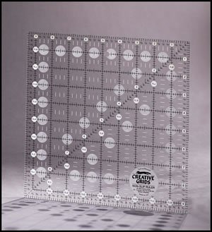 "Creative Grids 9 1/2"" Square Ruler"