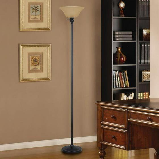 71 25 in bronze torchiere floor lamp 1000029926 new hampton bay 71 25 in bronze torchiere floor lamp with frosted plastic shade by hampton bay