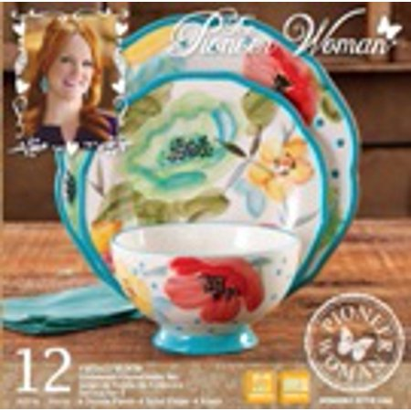 The Pioneer Woman Vintage Bloom Dinnerware Set, 12 Piece