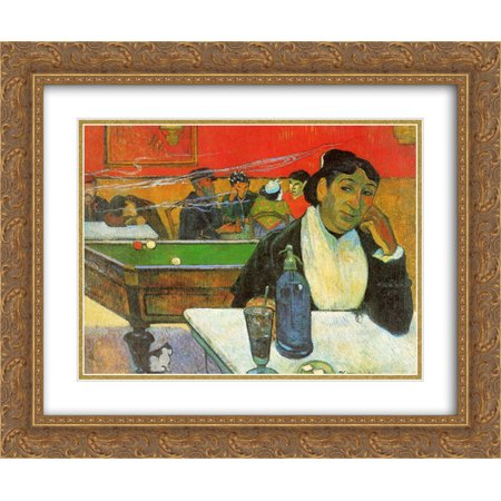 - Paul Gauguin 2x Matted 24x20 Gold Ornate Framed Art Print 'NIght Cafe in Arles (Madame Ginoux) '