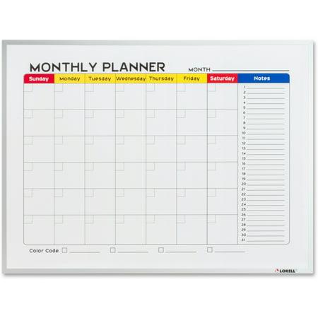 - Lorell, LLR19206, Dry-Erase Magnetic Planner Board, 1 Each