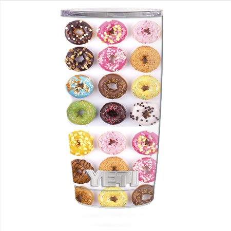 Halloween Donuts Tumblr (Skin Decal For Yeti 20 Oz Rambler Tumbler Can Cup / Donuts, Iced And)