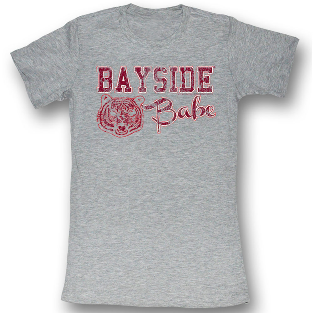 Saved By The Bell  Bayside Baby Girls Jr Soft Tee Gray Heather