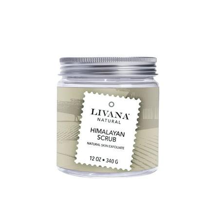 Himalayan Salt Scrub by Livana 12 oz Vegan Friendly Made in (Friends Salt)