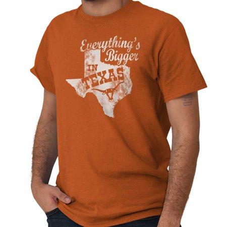 Brisco Brands Everything Bigger In Texas TX Short Sleeve Adult (Everything's Bigger In Texas)