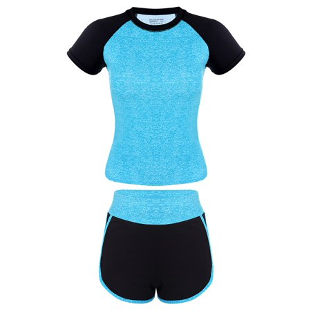 Fitibest Sport Suits Sports T-shirt Yoga Pants Gym Outfits Breathable T-shirt and Pants for Women