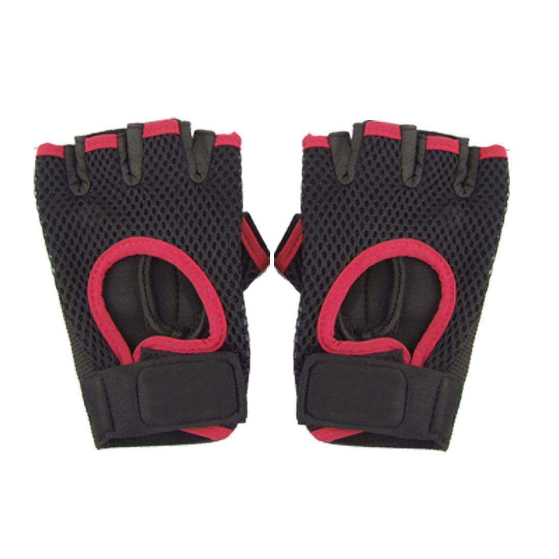 Neoprene Elastic Men Half Finger Gloves for Riding Fitness Weightlifting