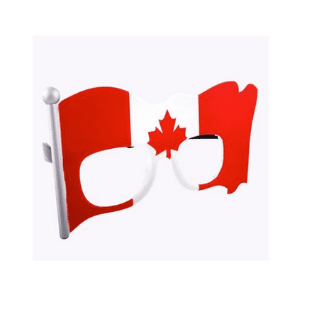 Party Costumes - Sun-Staches - Canadian Canada Flag Clear Lens - Canada Costumes