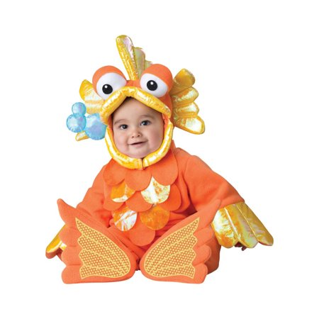 Giggly Goldfish Infant Halloween Costume, 6-12 Months - Baby Goldfish Costume