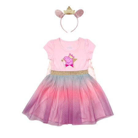 Peppa Pig Costume Tutu Dress with Headband (Toddler (Girls Sharpay's Pink Dress Costumes)