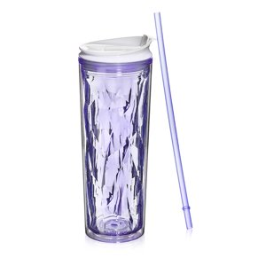 Cupture Crystal Click & Seal Shake Tumbler Cup for Hot or Cold Drinks - 22 oz (Purple Amethyst)