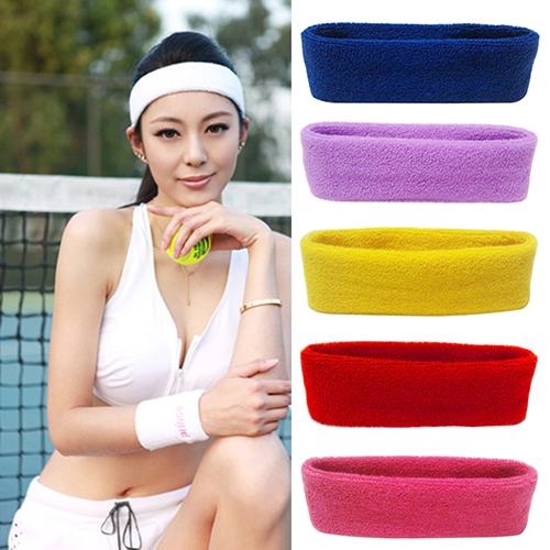 Micelec Fashion Women Men Sport Sweat Sweatband Headband Yoga Gym Stretch Head Hair Band