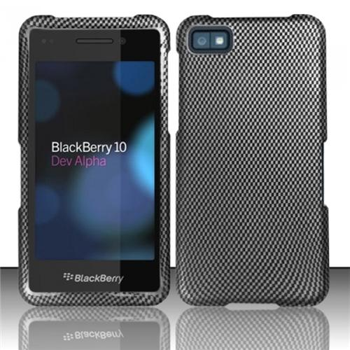 Insten Carbon Fiber Rubberized Hard Design Cover Case For Blackberry Z10