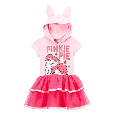 My Little Pony Toddler Girls' Pinkie Pie Costume Ruffle Dress, Light Pink, 4T (Little Girl Ruffle Dresses)