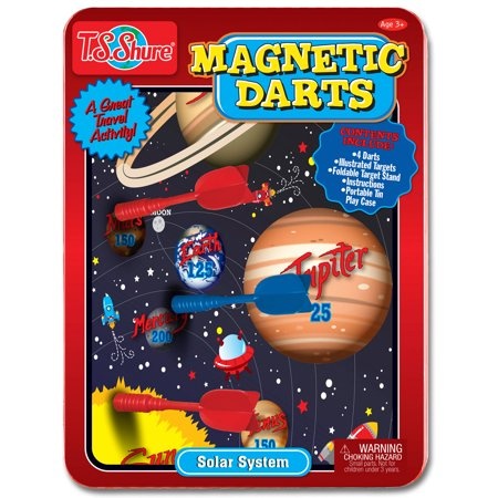 T.S. Shure Solar System Magnetic Dart Game Tin (Magnetic Darts)