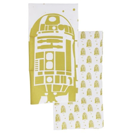 star wars pinache gold and white r2-d2 2-pack tea towels - Star Wars Tower