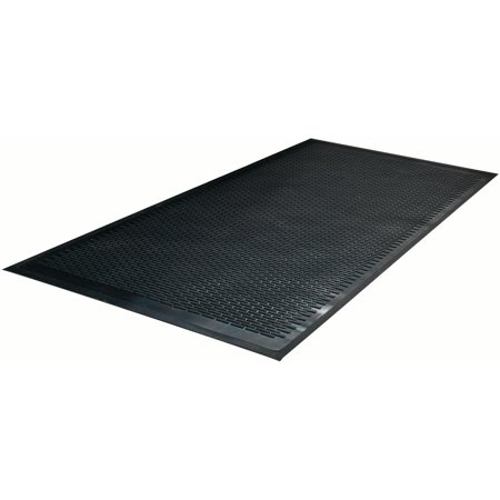 Guardian Clean Step Scraper Floor Mat, Rubber, 3'x5', Black - Runner Floor