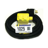 CEP 1025 Extension Cord,25ft,12/4,20A,SOW,Black
