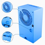 Fordawn Mini Portable Air Conditioner Fan, Small Desktop Fan Changeable Angle Adjustable Compact Super Quiet Personal Table Fan Mini Evaporative Air Circulator Cooler Humidifier