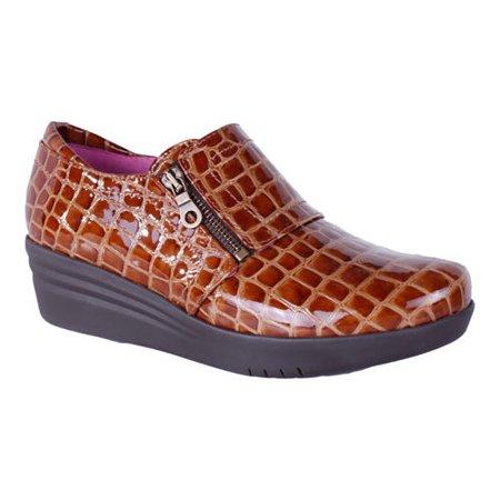 47ad5bfec Helle Comfort - Women s Helle Comfort Lorena Croco Wedge Slip On -  Walmart.com