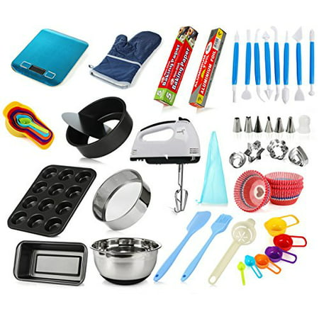 Complete Cake Baking Set Tools for Teenagers and Adult Beginners Starting Kit - Ultimate Bakeware Set for Birthday, Thanksgiving and Christmas - Baking Sets For Adults