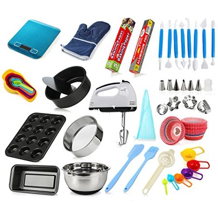 Complete Cake Baking Set Tools for Teenagers and Adult Beginners Starting Kit - Ultimate Bakeware Set for Birthday, Thanksgiving and Christmas Gift